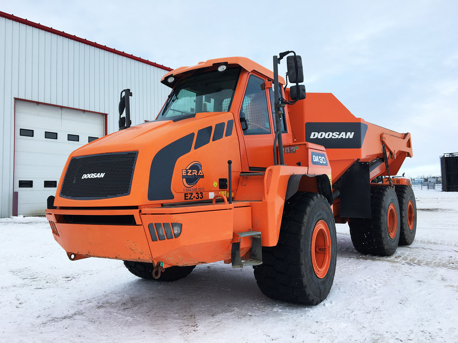 EZRA rentals and sales heavy equipment for rent in Grande Prairie AB Doosan DA30